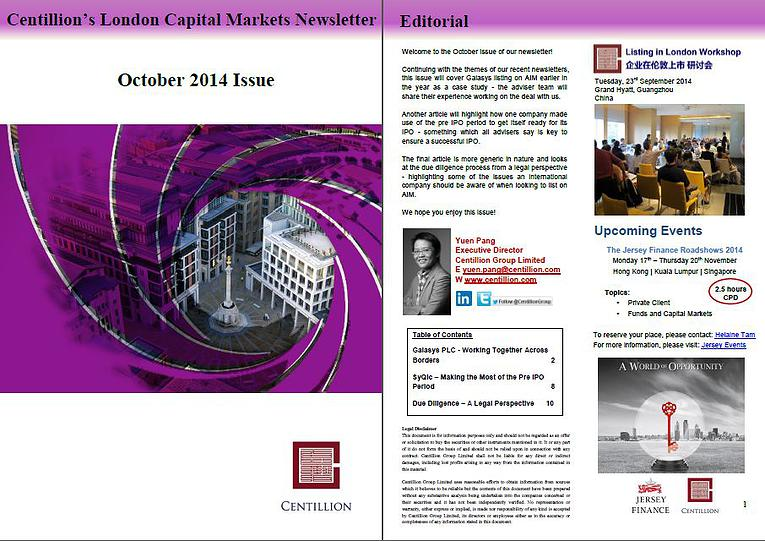 Newsletter Oct 2014