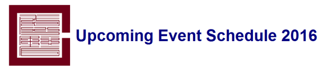 Event Banner - Upcoming Event Schedule 2016