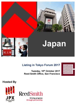 Listing in Tokyo (US 2017) - Cover Page