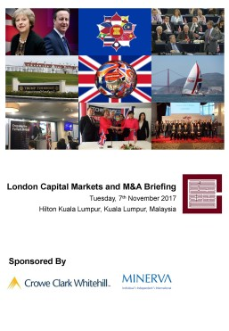 London Capital Markets Update Briefing (Kuala Lumpur, November) - Cover Photo